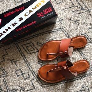 Rock & Candy by ZiGi Blaney Leather Sandal Size 8
